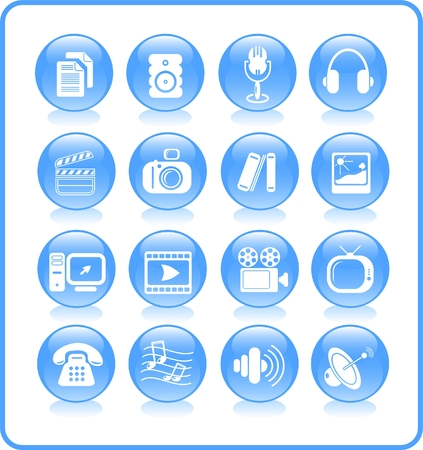 Miscellaneous multimedia raster icons. Vector version is available in my portfolio Stock Vector - 3024508