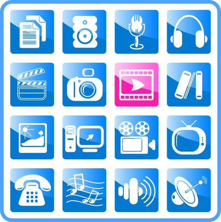 Miscellaneous multimedia raster icons. Vector version is available in my portfolio Zdjęcie Seryjne - 3024501