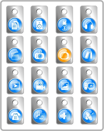 Miscellaneous multimedia raster icons. Vector version is available in my portfolio Stock Vector - 3024506