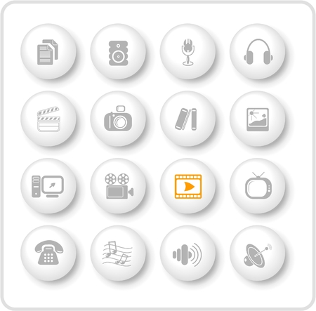 miscellaneous: Miscellaneous multimedia raster icons. Vector version is available in my portfolio