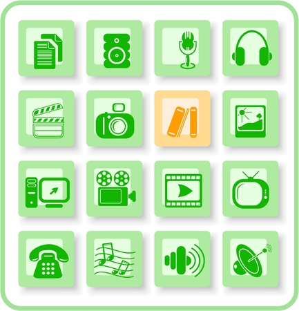 Miscellaneous multimedia raster icons. Vector version is available in my portfolio Stock Vector - 3024521
