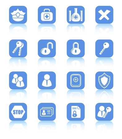 Security and antivirus raster icons. Vector version is available in my portfolio Zdjęcie Seryjne - 3059560