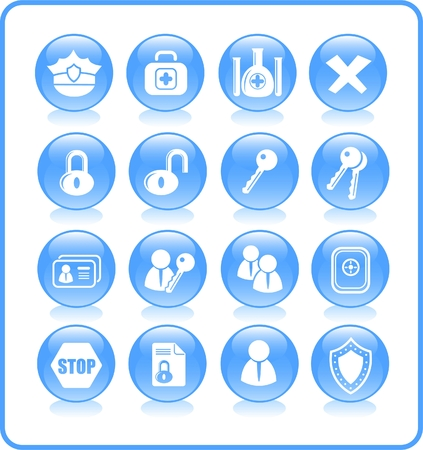 Security and antivirus raster icons. Vector version is available in my portfolio