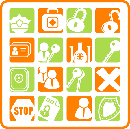 Security and antivirus raster icons. Vector version is available in my portfolio Zdjęcie Seryjne - 3059565