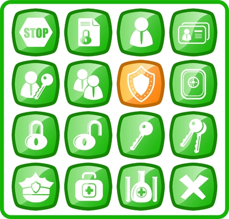Security and antivirus raster icons. Vector version is available in my portfolio Stock Vector - 3059460