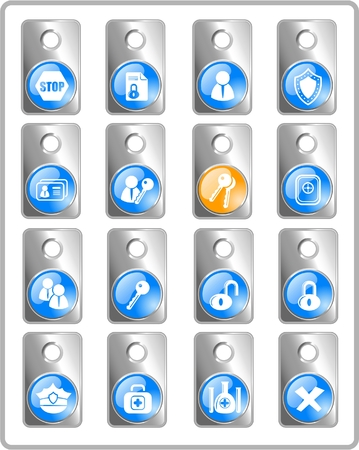 Security and antivirus raster icons. Vector version is available in my portfolio Zdjęcie Seryjne - 3059554