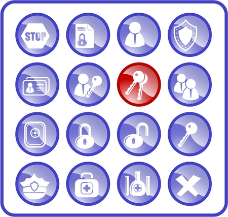 Security and antivirus raster icons. Vector version is available in my portfolio Stock Vector - 3059553