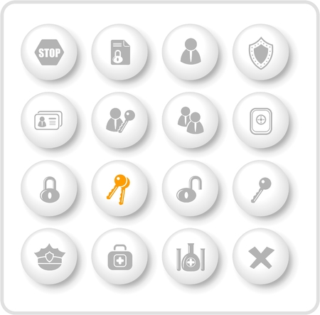 Security and antivirus raster icons. Vector version is available in my portfolio Zdjęcie Seryjne - 3059563