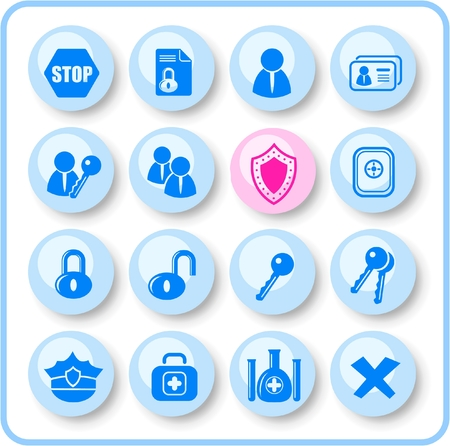 Security and antivirus raster icons. Vector version is available in my portfolio Stock Vector - 3059558