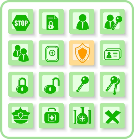 rsa: Security and antivirus raster icons. Vector version is available in my portfolio