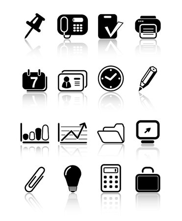 Miscellaneous office raster icons. Vector version is available in my portfolio Ilustracja