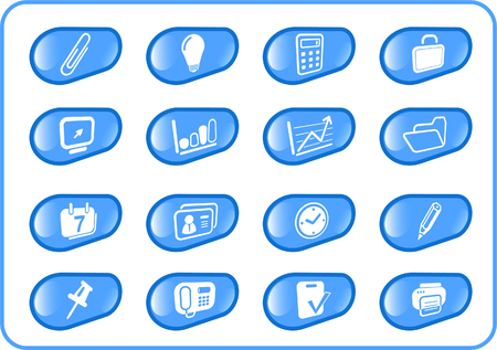 thumbtack: Miscellaneous office raster icons. Vector version is available in my portfolio Illustration
