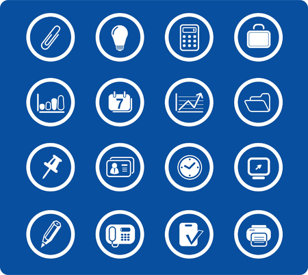miscellaneous: Miscellaneous office raster icons. Vector version is available in my portfolio Illustration