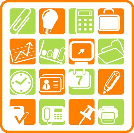 Miscellaneous office raster icons. Vector version is available in my portfolio Illustration