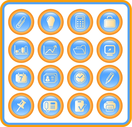 Miscellaneous office raster icons. Vector version is available in my portfolio Vector