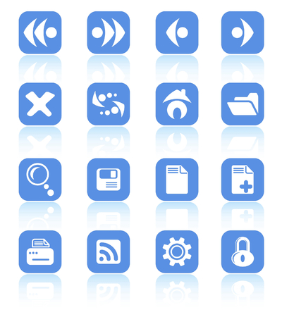 Browser raster icons. Vector version is available in my portfolio Stock Vector - 5155764