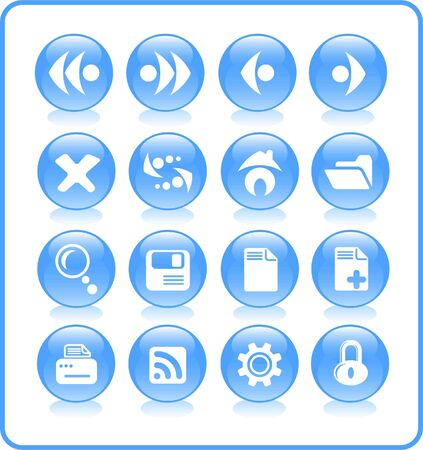 Browser raster icons. Vector version is available in my portfolio