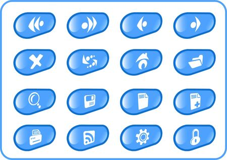 Browser raster icons. Vector version is available in my portfolio Vector
