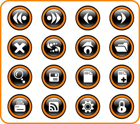 Browser raster icons. Vector version is available in my portfolio Stock Vector - 5155792