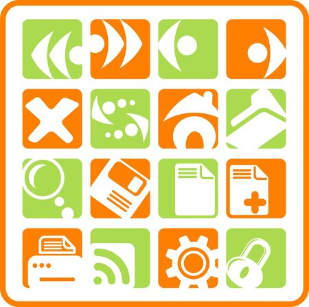 Browser raster icons. Vector version is available in my portfolio Stock Vector - 5155766