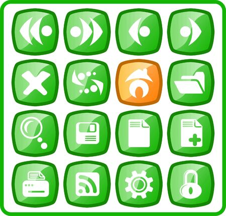 Browser raster icons. Vector version is available in my portfolio Stock Vector - 5155789