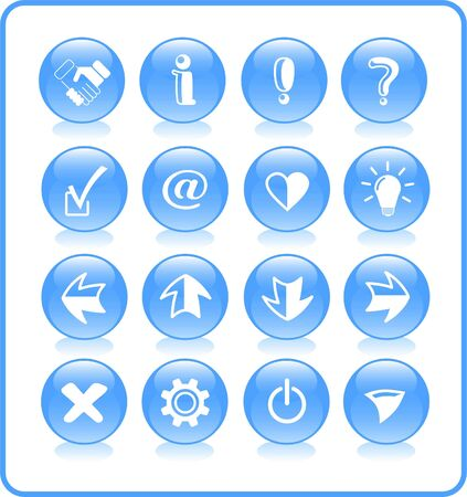 Miscellaneous signs raster iconset. Vector version is available in my portfolio Stock Vector - 5155829
