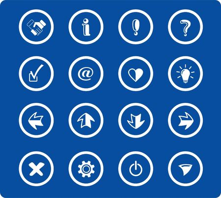 Miscellaneous signs raster iconset. Vector version is available in my portfolio Stock Vector - 5155836