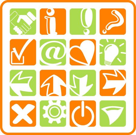 Miscellaneous signs raster iconset. Vector version is available in my portfolio Stock Vector - 5155861