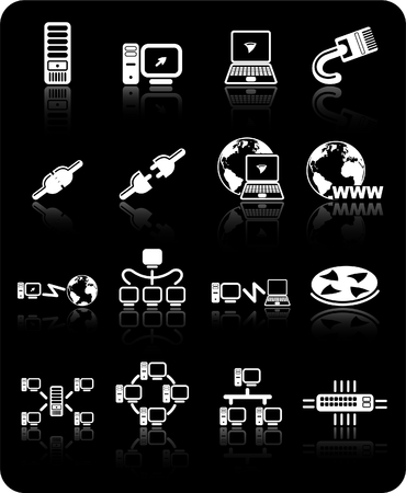 hub computer: Network raster iconset. Vector version is available in my portfolio