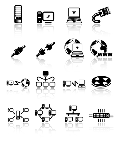 Network raster iconset. Vector version is available in my portfolio Zdjęcie Seryjne - 5155903