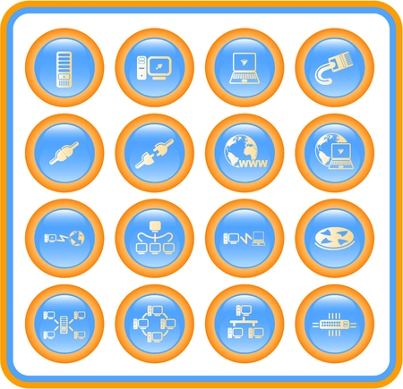 Network raster iconset. Vector version is available in my portfolio Vector