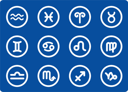 Zodiac raster iconset. Vector version is available in my portfolio Vector
