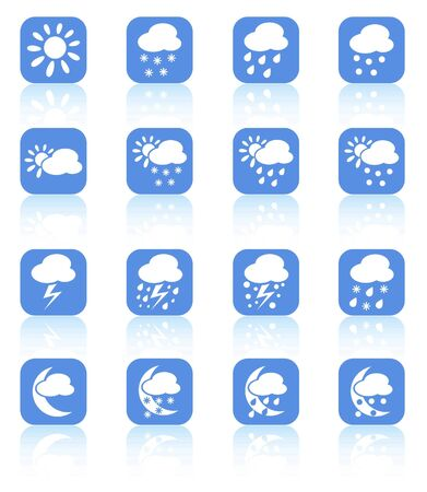 Weather raster iconset. Vector version is available in my portfolio Stock Vector - 5164761