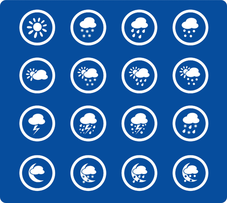 Weather raster iconset. Vector version is available in my portfolio Vector