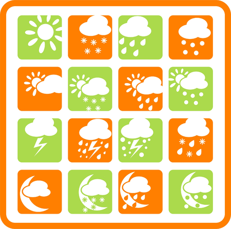 Weather raster iconset. Vector version is available in my portfolio Stock Vector - 5164809