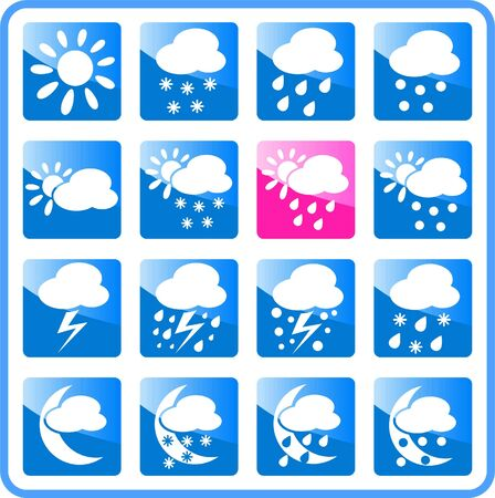 Weather raster iconset. Vector version is available in my portfolio Stock Vector - 5164739