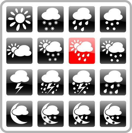 Weather raster iconset. Vector version is available in my portfolio Stock Vector - 5164745