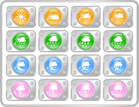 Weather raster iconset. Vector version is available in my portfolio Stock Vector - 5164730