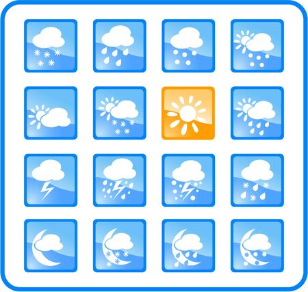 Weather raster iconset. Vector version is available in my portfolio Stock Vector - 5164691