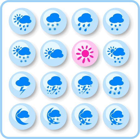 Weather raster iconset. Vector version is available in my portfolio Stock Vector - 5164748