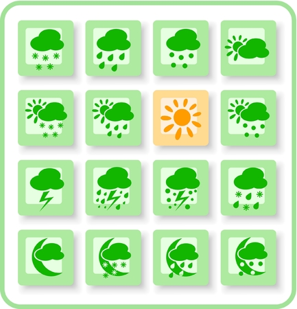 Weather raster iconset. Vector version is available in my portfolio Stock Vector - 5164831