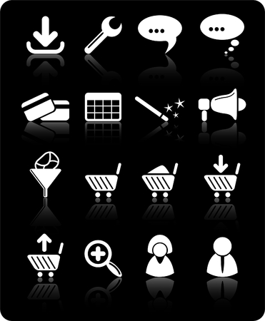 Website raster iconset. Vector version is available in my portfolio Stock Vector - 5164731