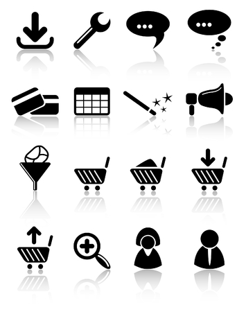 Website raster iconset. Vector version is available in my portfolio Ilustracja