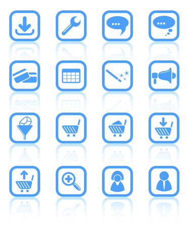 Website raster iconset. Vector version is available in my portfolio Vector