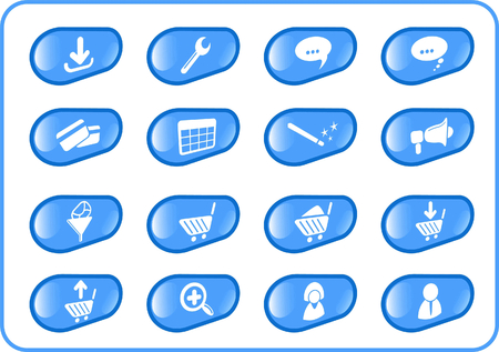 Website raster iconset. Vector version is available in my portfolio Stock Vector - 5164832