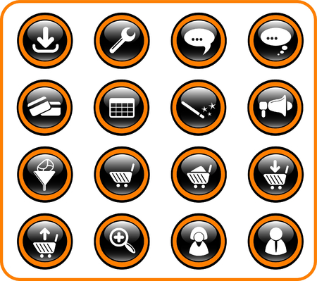 loudhailer: Website raster iconset. Vector version is available in my portfolio Illustration