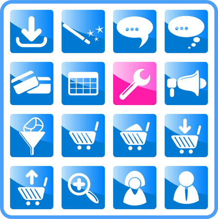 Website raster iconset. Vector version is available in my portfolio Stock Vector - 5164753