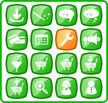 Website raster iconset. Vector version is available in my portfolio Stock Vector - 5164816
