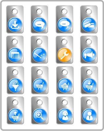 Website raster iconset. Vector version is available in my portfolio Stock Vector - 5164721