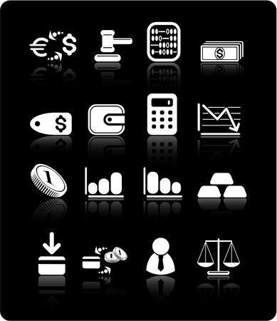 Money raster iconset. Vector version is available in my portfolio Stock Vector - 5164895